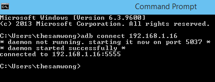 command prompt how to connect to ip and mask