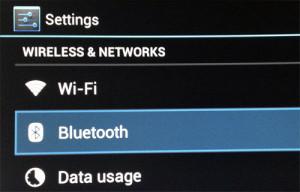 Open Bluetooth