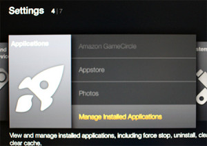 App is Located Under Manage Installed Applications